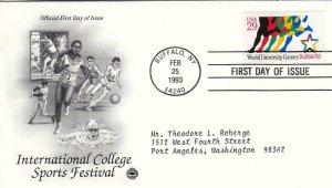 1993, International College Sports Festival, PCS, FDC (D15396)
