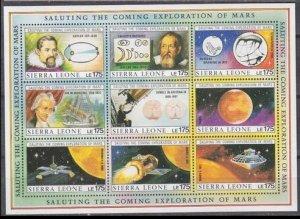 1990 Sierra Leone 1356-1364KL Johannes Kepler 36,00 €