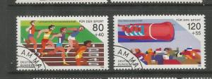 GERMANY, B641-B642, USED, EUROPEAN WORLD SPORTS CHAMPIONSHIPS