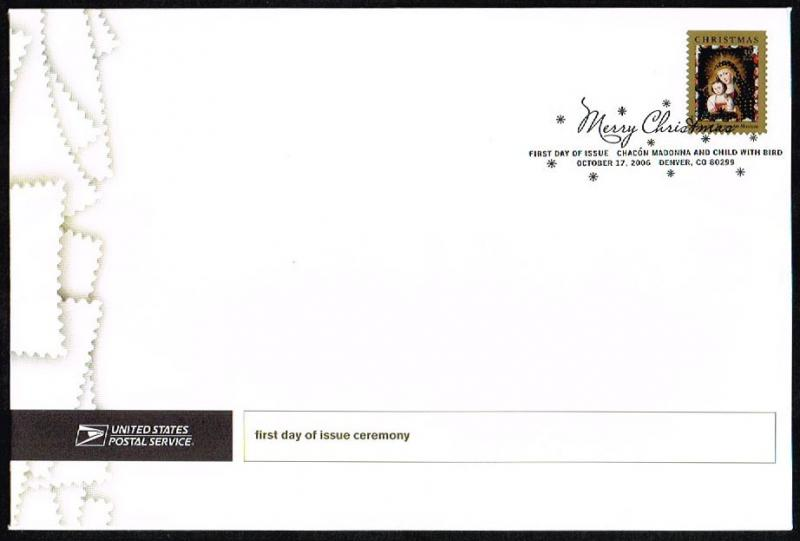 US #4100 Chacon Madonna & Child FDC on Large Envelope