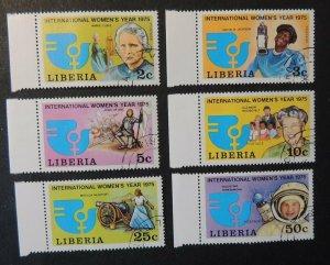 Liberia 1975 womens year curie joan of arc eleanor roosevelt terechkova