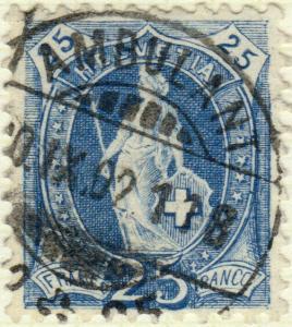 SUISSE / SWITZERLAND / SCHWEIZ 1902  AMBULANT / N° 25 (or 35)  TPO CDS /Mi.67D