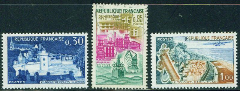 France Scott 1025-1027 MNH** 1962 Dunkirk stamp set