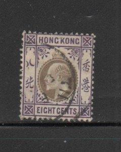 HONG KONG #93  1904  4c  KING EDWARD VII    USED F-VF  a