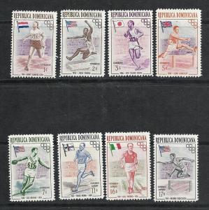 Dominican Republic #474-8 C97-9 comp mnh cv $2.65 Olympics