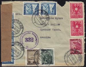Austria - 1946 censored cover to USA