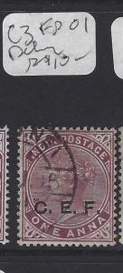 INDIA CHINA EXPED FORCE (P2908B)  QV CEF  1A  FPO#1  PEKING  SG C3   VFU