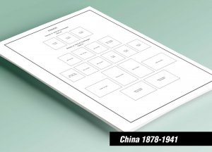 PRINTED CHINA [CLASS.] 1878-1941 STAMP ALBUM PAGES (42 pages)