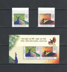 INDIA:Sc.2984-85,a  **RELATIONS WITH PAPUA-NEW GUINEA**/ Set & SS  / MNH