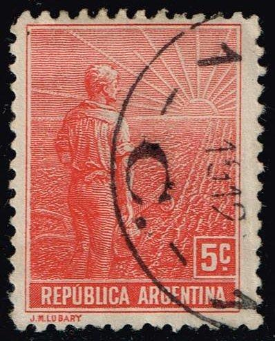 Argentina #177 Farmer and Rising Sun; Used (0.25)