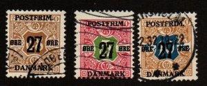 Denmark 142-144 Wmk. 113. Used