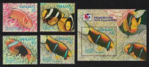 Vanuatu Anemonefish 4v+MS SG#674-MS678 SC#637-640a