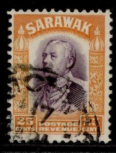 SARAWAK GV SG117, 25c violet & orange, FINE USED.