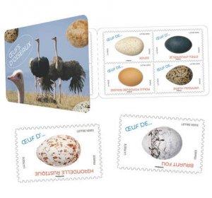 2020 France Birds Eggs Bklt of 12 SA  (Scott NA) MNH