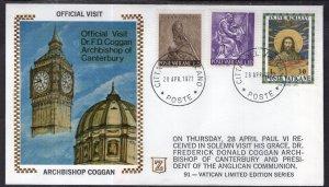 Vatican City Official Visit Archbishop Coggan 1977 Zaso Cover