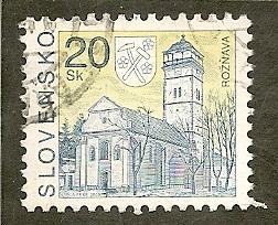 Slovakia     Scott  225    Church   Used