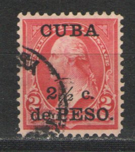 Cuba 1899 Sc# 223 Used G/VG - Surcharged issue