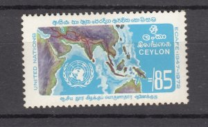 J27838 1972 ceylon set of 1 mnh #469 map