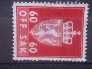 NORWAY, 1964, used 60o POSTAGE DUE, Scott O87