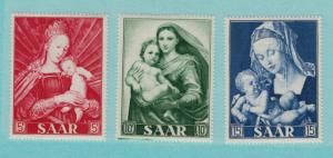 Saar Scott #250 To 252, Immaculate Conception, Paintings of the Madonna Issue...
