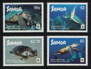 Samoa WWF Hawksbill Turtle 4v White Frame SALE BELOW FACE VALUE