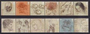 Great Britain  MNH  2019  Leonardo da Vinci  in strips of 6