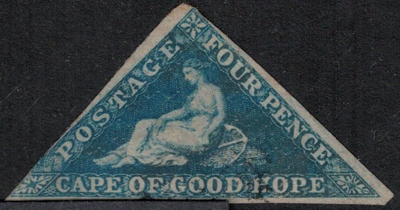 Cape of Good Hope 1855 SC 4 Used Stamp SCV $85.00