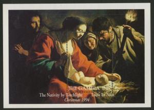 Gambia 1599 MNH Art, Painting, Christmas, The Nativity
