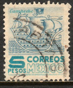 MEXICO 865, $5P 1950 Definitive wmk 279 Used. VF. (456)
