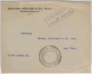 COLOMBIA - POSTAL HISTORY: COVER to ITALY with nice postmark: NO HAY ESTAMPILLAS