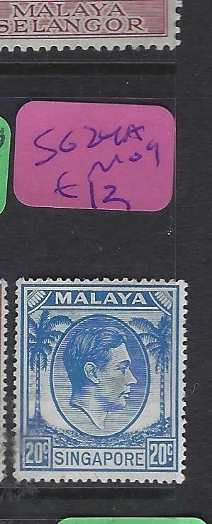 SINGAPORE  (PP2901B)  KGVI  20 C  SG  24A   MOG