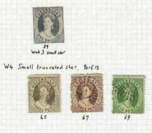 AUSTRALIA QUEENSLAND EARLY STAMPS    R 2320