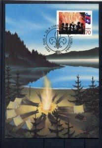 1995 Slovenia Scouts max card FDC