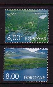 Faroe Islands Sc 401-2 2001 Europa stamp set mint NH