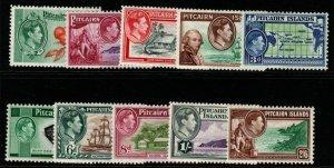 PITCAIRN ISLANDS SG1/8 1940-51 DEFINITIVE SET MTD  MINT