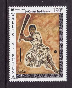 Wallis & Futuna-Sc#603-unused NH set-Sports-Traditional Cricket-2005-