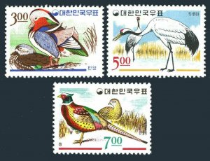 Korea South 493-495,493a-495a,MNH. Birds 1966.Bucks,Cranes,Pheasants.