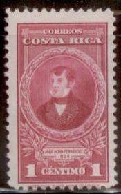 Costa Rica 1942 Juan Mora Fernandez SC#224 MNH-OG