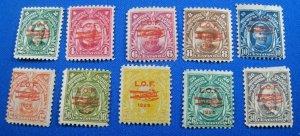 PHILIPPINES 1928  -  SCOTT # C18-C27  -  MH                (Hp10)