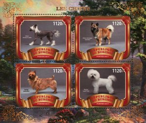Dog Terrier Berger Domestic Animal Souvenir Sheet of 4 Stamps Mint NH