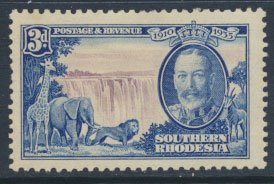 Southern  Rhodesia  SG 33 SC# 35  MH  Silver Jubilee  see scans  and detail