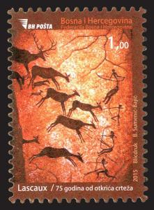 BOSNIA & HERZEGOVINA /2015, 75 years from discovery of cave Lascaux, MNH