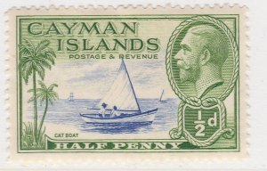 British Colony Cayman Islands 1935 1/2d MH* Stamp A22P19F8945