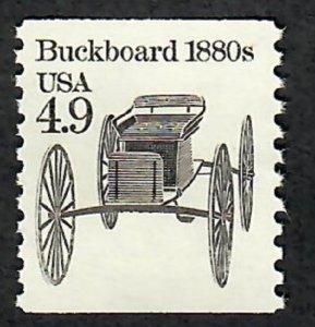 2124 Buckboard F-VF MNH transportation coil single