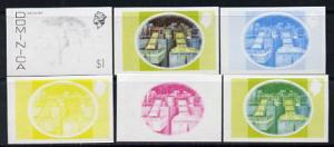 Dominica 1975-78 Lime Factory $1 set of 6 imperf progress...