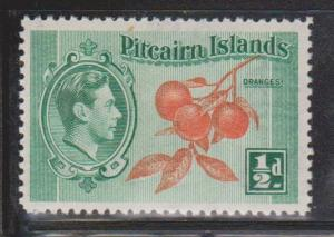 PITCAIRN ISLANDS Scott # 1 MH - KGVI & Oranges