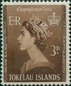 Tokelau 1953 SG4 3d Coronation MNH