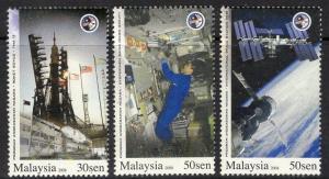 MALAYSIA SG1521/3 2008 NATIONAL ASTRONAUT PROGRAMME MNH