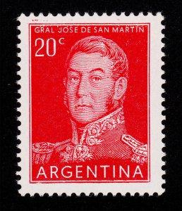 ARGENTINA STAMP - SCOTT #630/A237 40¢ RED JOSE DE SAN MARTIN 1956 MNH-OG