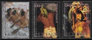French Polynesia Scott #'s 922 - 924 MNH